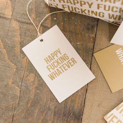 Cadeaux rigolos - Papier cadeau Happy Whatever