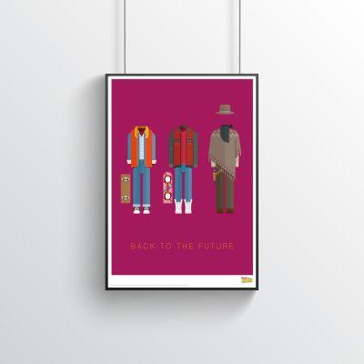 Poster - Poster de film Costumes – Retour vers le Futur