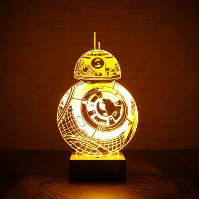 Cadeau de Noël pour homme - Lampe Star Wars BB-8 effet 3D