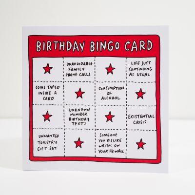 Cartes - Carte d'anniversaire Birthday Bingo