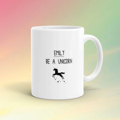 Verres & Mugs - Tasse Licorne Personnalisable