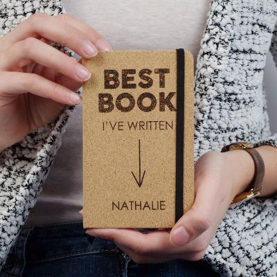 Cadeau 30 ans - Carnet en liège Personnalisable - Best Book