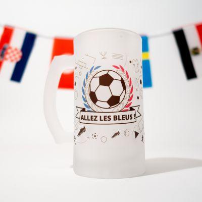 Verres & Mugs - Chope de Bière - Allez les Bleus