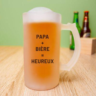 Idées cadeaux pour mettre dans le calendrier de l'avent - Chope de bière personnalisable avec photo et texte