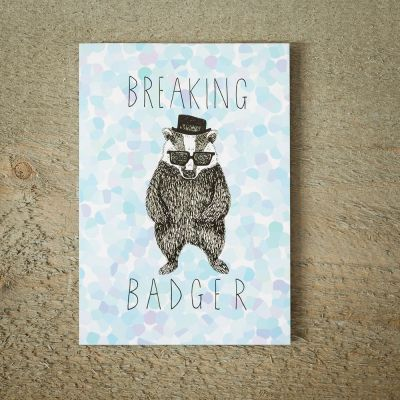 Cartes - Carte de vœux Breaking Badger