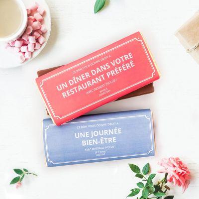 Idées cadeaux pour mettre dans le calendrier de l'avent - Bon Cadeau Personnalisable - Avec Chocolat