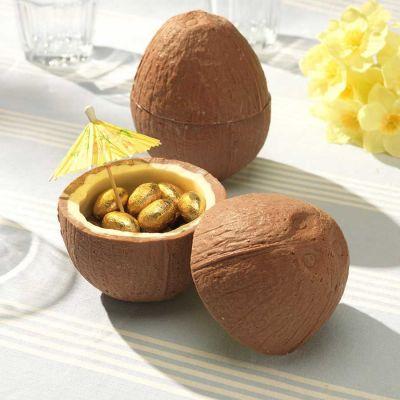 Cadeau pour sa copine - Noix de coco en Chocolat (avec ses petits œufs en chocolat)
