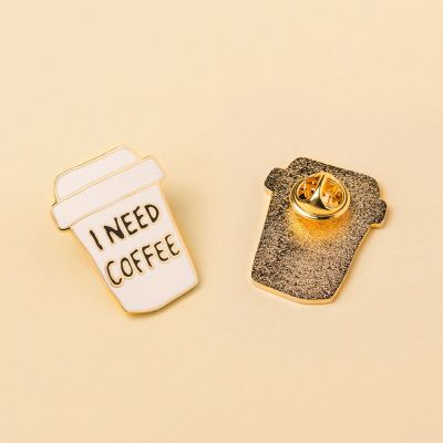 Cadeau 18 ans - Pin's I Need Coffee
