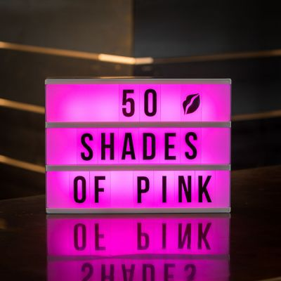 Idée cadeau femme - Boite Lumineuse Cinéma – Changement de Couleur