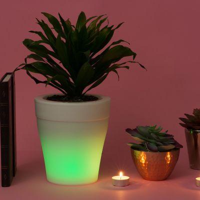 Idées cadeaux pour mettre dans le calendrier de l'avent - Pot de Fleurs Lumineux qui change de couleurs