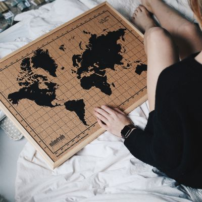 Cadeau 50 ans - Pinboard Carte du Monde