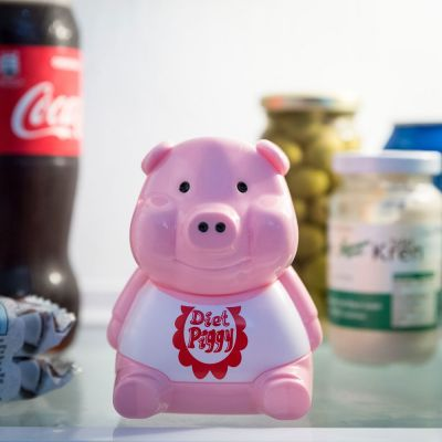 Idées cadeaux pour mettre dans le calendrier de l'avent - Alarme pour réfrigérateur Piggy Diet