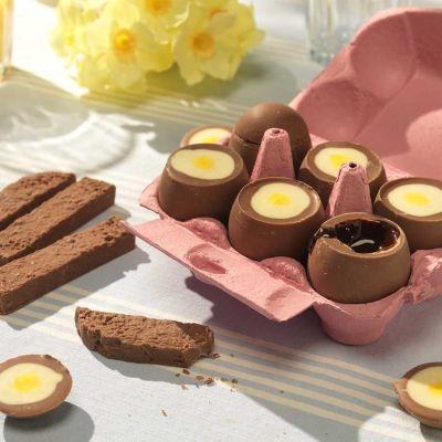 Cadeau pour sa copine - Œufs Mollets en Chocolat