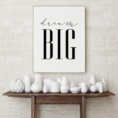 Produits exclusifs - Dream Big Poster par MottosPrint