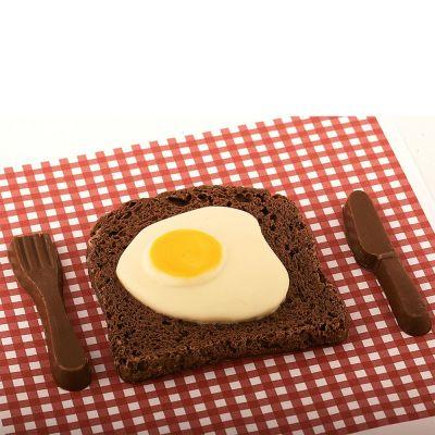 Cadeau 50 ans - Bacon & Œuf au plat en Chocolat