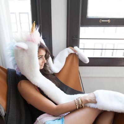Cadeau pour sa copine - Capuchon licorne