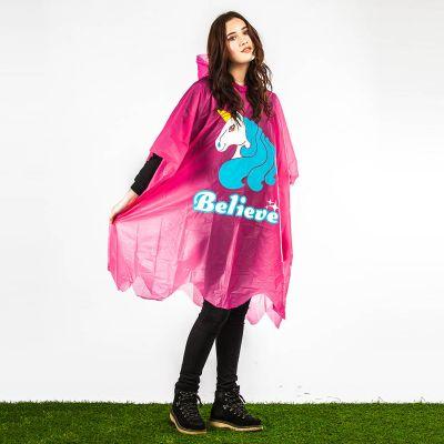 Gadgets pour festivals - Poncho de pluie Licorne