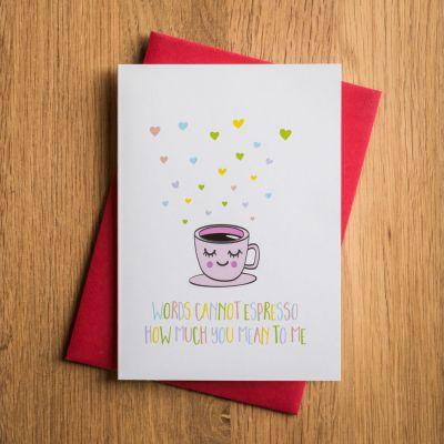 Cadeau pour son copain - Carte de Saint Valentin – Espresso