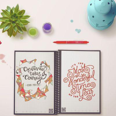 Cadeau anniversaire Femme - Carnet de Notes Intelligent & Réutilisable Everlast (avec application smartphone)