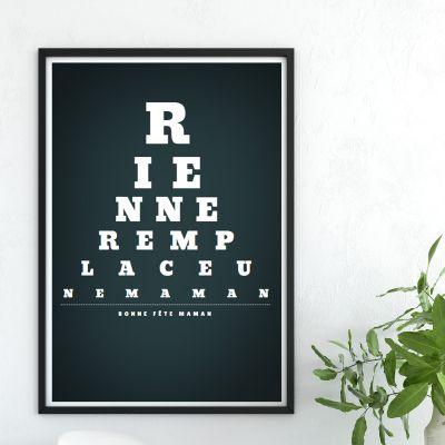 Cadeaux de Noël pour Papa - Vision de Loin - Poster personnalisable