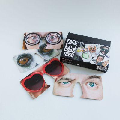 Cadeau pour son copain - Masques Face Coasters