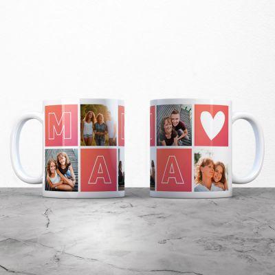 4e564121143 Cadeau fête des mères - Tasse personnalisable maman avec images