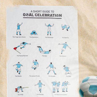 Été - Serviette avec les célébrations de buts