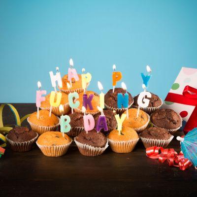 Cadeau homme - Bougies Happy Fucking Birthday