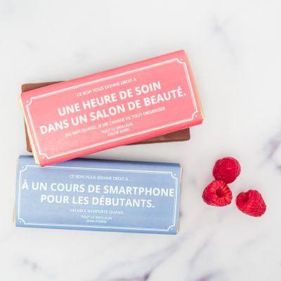 Cadeau Saint Valentin Homme - Bon Cadeau Personnalisable - Avec Chocolat