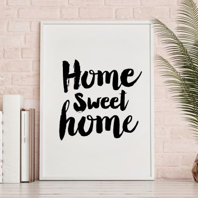 Poster à la carte - Home Sweet Home Poster par MottosPrint
