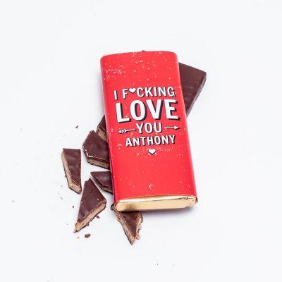 4b72e511fcc Cadeau pour la Saint Valentin - Chocolat Personnalisable I F ... ing Love