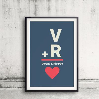 Poster personnalisable - Initiales - Poster personnalisable