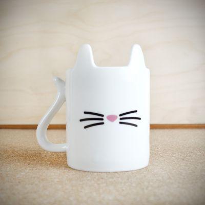 Cadeau fête des mères - Tasse Chat Blanc