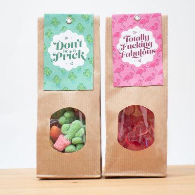 Cadeau d'adieu - Bonbons aux fruits Cactus & Flamant Rose