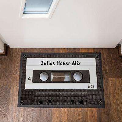 Cadeau 30 ans - Paillasson personnalisable Cassette Audio