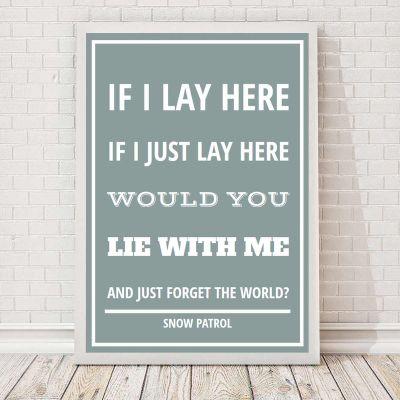 Cadeau pour sa copine - Paroles de chanson - Poster personnalisable