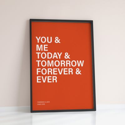 Posters exclusifs - You + Me + … - Poster Personnalisable