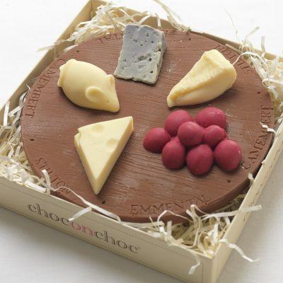 Cadeau pour son copain - Plateau de fromages en Chocolat