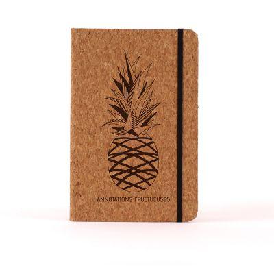 Carnets personnalisés - Carnet en liège Personnalisable - Ananas