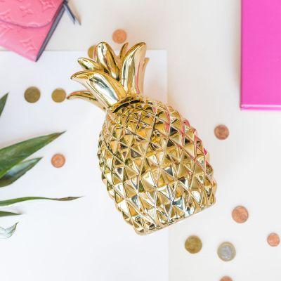 Cadeau pour sa copine - Tirelire Dorée Ananas