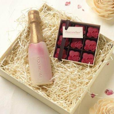 Cadeau fête des mères - Chocolats Prosecco et Coeurs