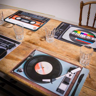 Cadeau pour sa copine - Sets de table Rétro – 4 pièces
