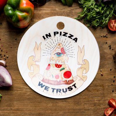 Produits exclusifs - Planche à découper In Pizza We Trust