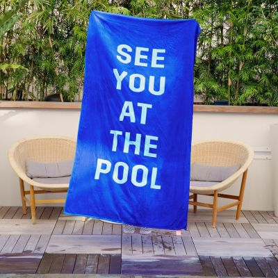 Outdoor - Serviette de Plage Géante See You At The Pool