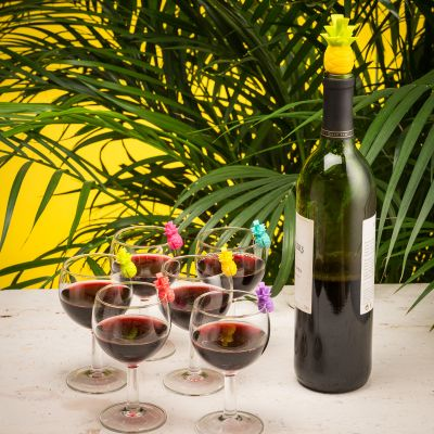 Cuisine & Barbecue - Marqueurs de verres et Bouchon Ananas