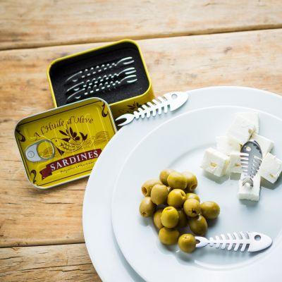 Idées cadeaux pour mettre dans le calendrier de l'avent - Set de 6 piques apéritif Sardines