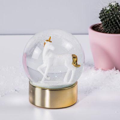 Jeux & Farces - Boule à neige Licorne