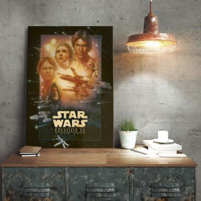 Cadeaux de Noël pour Papa - Poster métallique Star Wars – Un nouvel Espoir