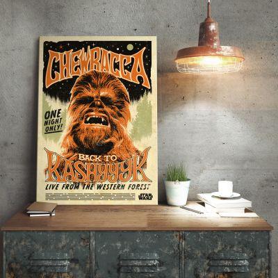 Cadeaux de Noël pour Papa - Poster métallique Star Wars – Chewbacca