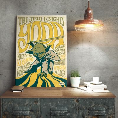Cadeaux de Noël pour Papa - Poster métallique Star Wars – Yoda